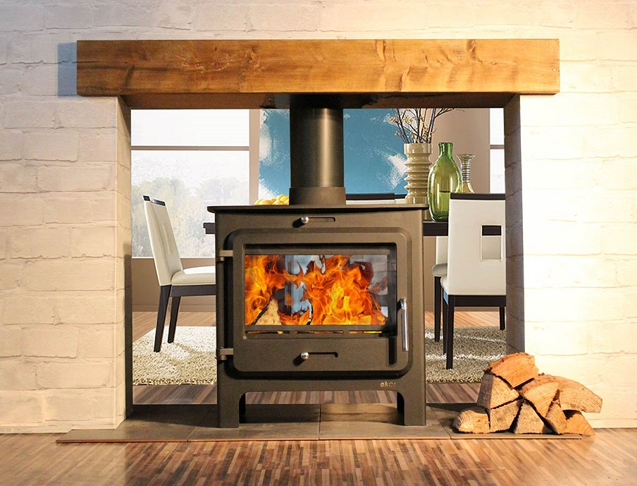Ekol Clarity Double Sided Stove Wood Burners & Multi Fuel Stoves