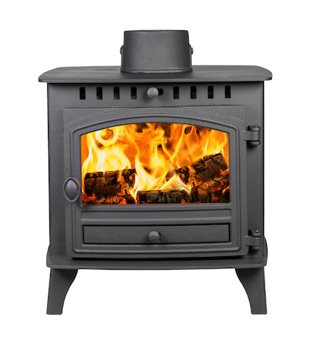 Hunter Herald 6 Double Sided Single Depth Woodburner & Multifuel stove