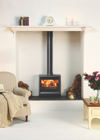 Stovax View 8 Inset Boiler WoodBurners/Multi Fuel Stove